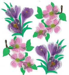 Jolee's Boutique Dimensional Stickers Dogwood And Crocus Flowers