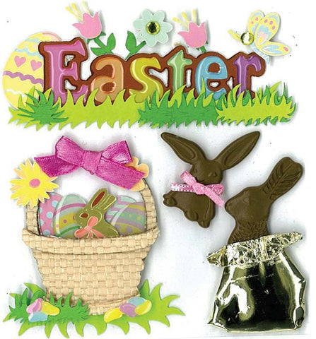 Jolee's Boutique Dimensional Stickers Easter Chocolate Bunnies