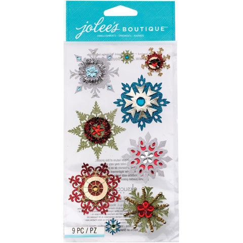 Jolee's Boutique Dimensional Stickers Embellished Snowflakes