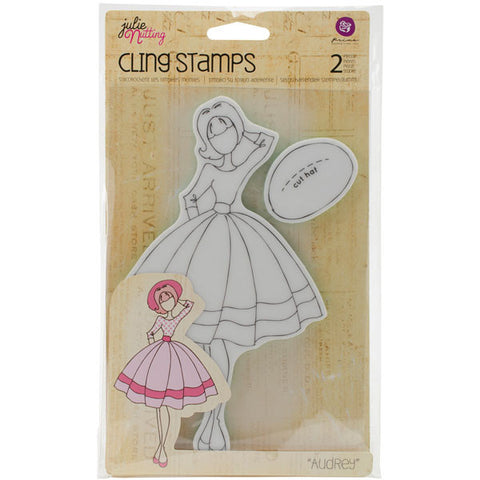 Julie Nutting Doll Cling Stamp Audrey