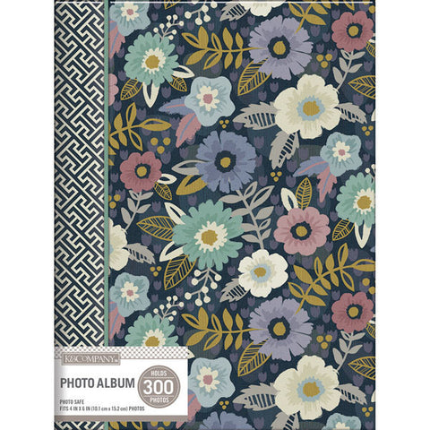 K & Company 3 Up Spiral Memo Photo Album Simple Floral