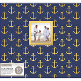 K & Company Patterned Post Bound Window Album Nautical 12inx12in