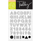 Kelly Purkey Clear Stamps - Outline Letters