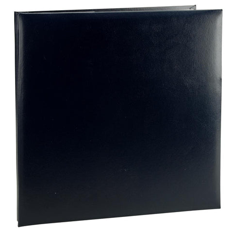 Leatherette Postbound Album Black 12inx12in