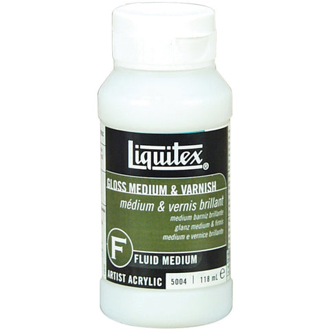 Liquitex Gloss Fluid Acrylic Medium and Varnish 4oz