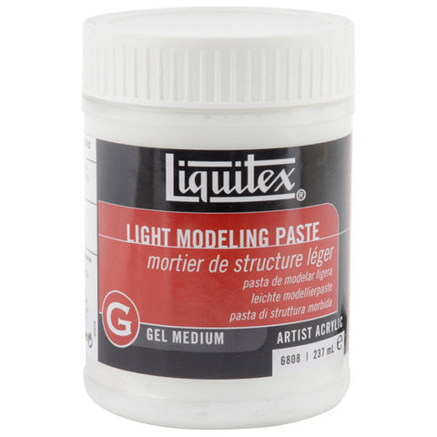 Liquitex Light Modeling Paste Gel Acrylic Medium 8oz