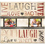 Live Laugh Love Film Strip Post Bound Scrapbook 12inx12in
