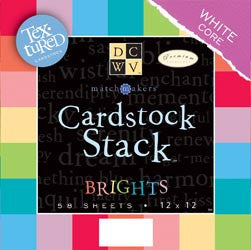Match Makers Textured Brights Cardstock Stack 12inx12in