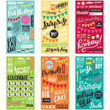Me and My Big Ideas Pocket Pages Clear Stickers Birthday