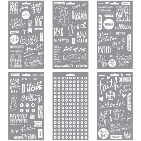 Me and My Big Ideas Pocket Pages Clear Stickers Faith