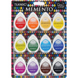 Tsukineko Memento Dew Drop Dye Ink Pads Set Gum Drops 12pk