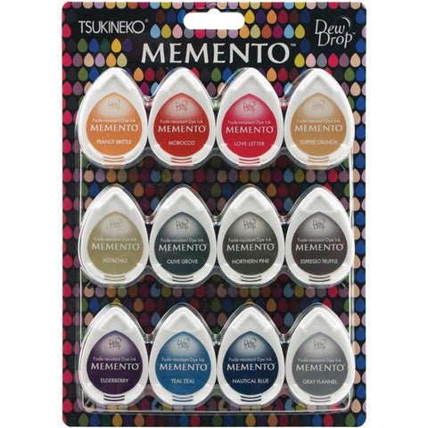 Tsukineko Memento Dew Drop Dye Ink Pads Set Snow Cones 12pk