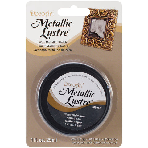 Metallic Lustre Wax Finish Black Shimmer