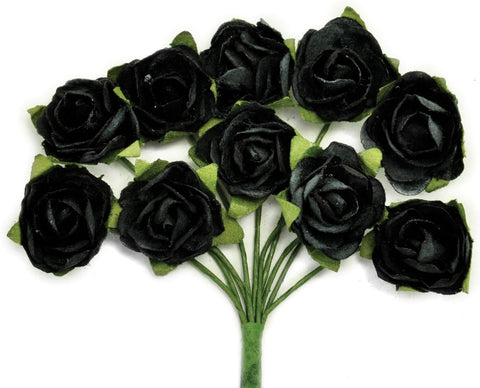 Mini Paper Blooms Black