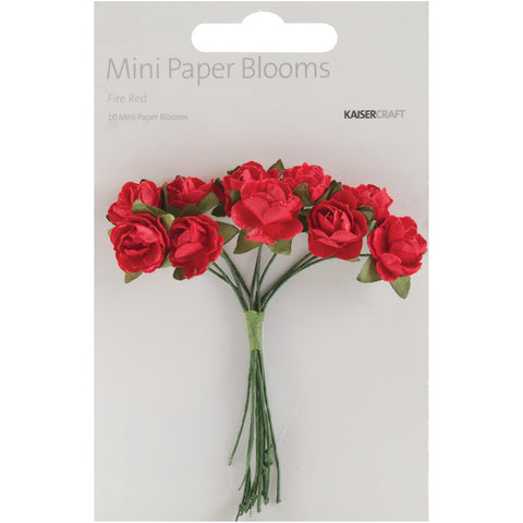 Mini Paper Blooms Fire Red