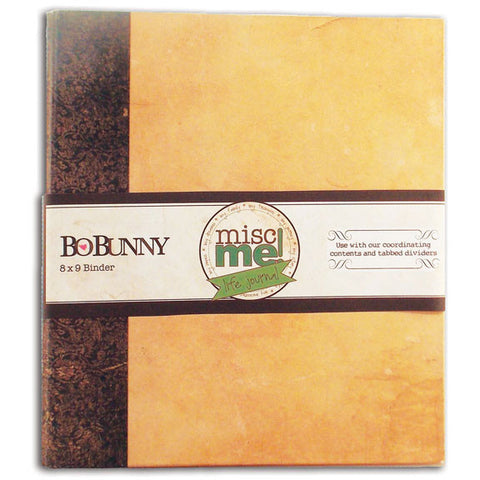 BoBunny Misc Me Binder Life Journal Kraft 8inx9in