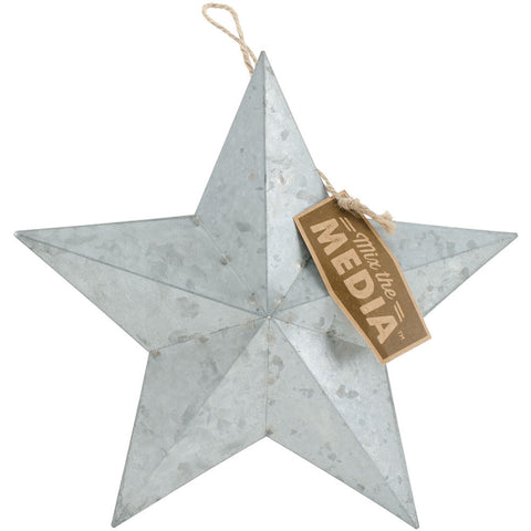 Mix The Media Galvanized Star Small Jute Hanger 9.25in