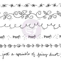 Julie Nutting Doll Cling Stamp Borders Flowers Flourish Words