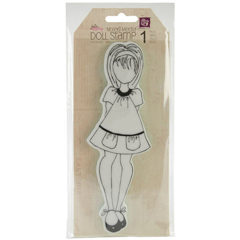 Julie Nutting Doll Cling Stamp Doll with Pocket Dress