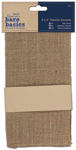 Papermania Bare Basics Hessian Squares 8inx8in