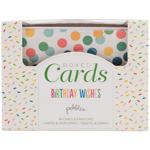 Pebbles A2 Cards and Envelopes Birthday Wishes 4.25X5.5
