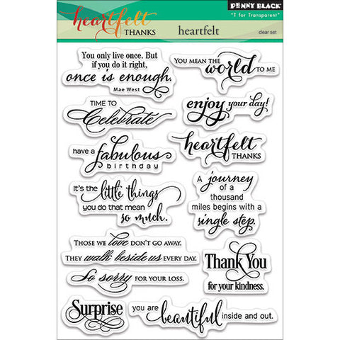 Penny Black Clear Stamps Heartfelt