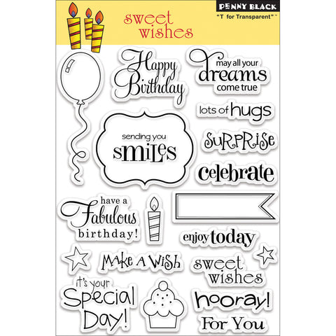 Penny Black Clear Stamps Sweet Wishes
