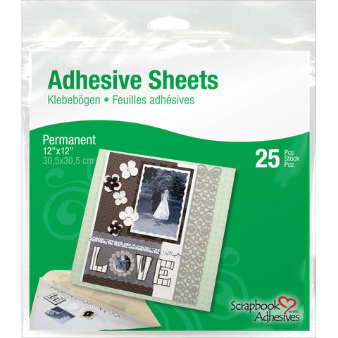 Permanent Adhesive Sheets 12inx12in