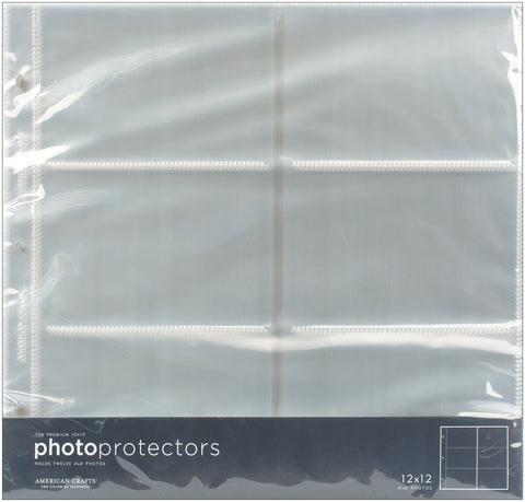 Photo Protectors with Sleeves Horizontal 12inx12in