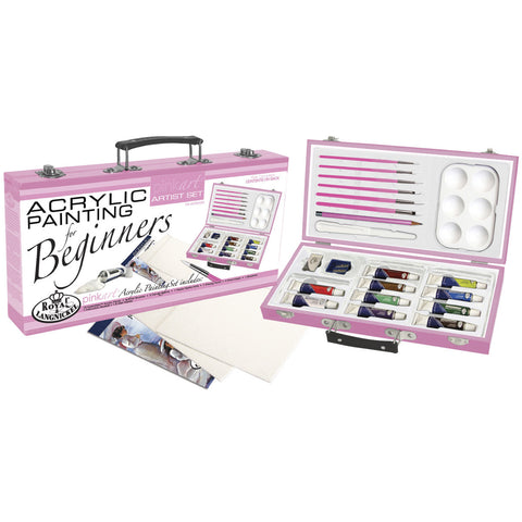 Pink Acrylic Painting For Beginners Artist Set