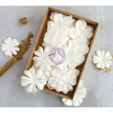 Prima Boxed Flowers Purity with Glitter 1.5in to 2.25in