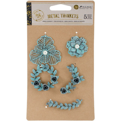 Prima Marketing Metal Patina Trinkets Flowers and Vines