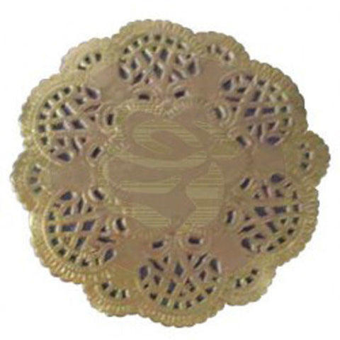 Prima Marketing Paper Doilies Gold 4in Round