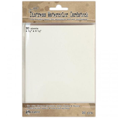 Ranger Distress Watercolor Cardstock 4.25inx5.5in 20pk