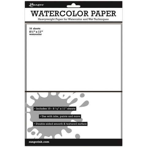 Ranger Surfaces Watercolor Paper 8.5inx11in 10pk