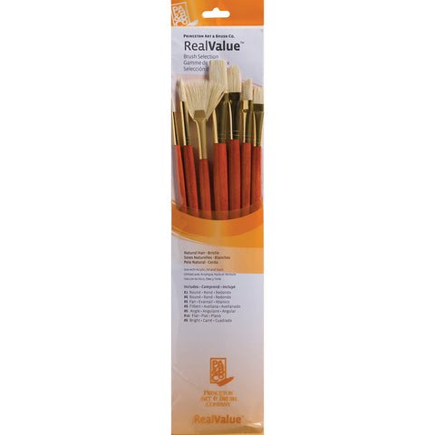 Real Value Brush Set Natural Bristle 7pk