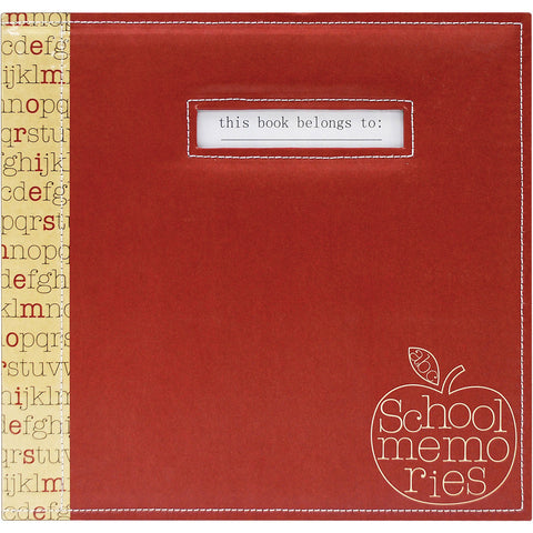 "School Memories Scrapbook 12""x12"" - Red Apple"