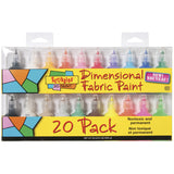 Scribbles® 3D Fabric Paint Set 20pk