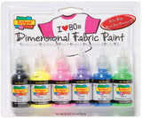 Scribbles® 3D Fabric Paint Set 80's Pop