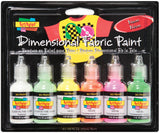 Scribbles® 3D Fabric Paint Set Neon