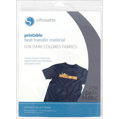 Silhouette Printable Heat Transfer Material For Dark Fabrics