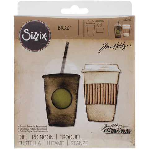 Sizzix Bigz Die By Tim Holtz Fresh Brewed