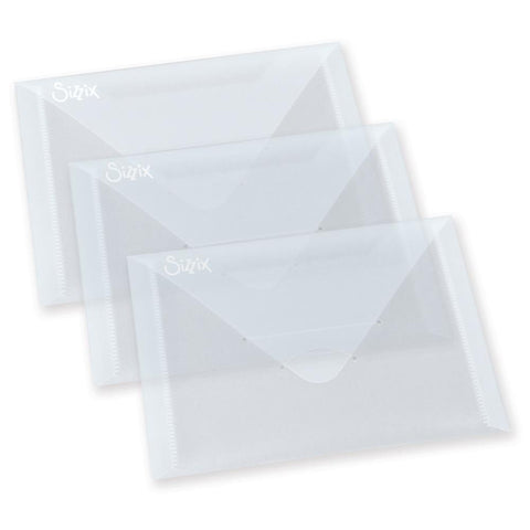 Sizzix Plastic Storage Envelopes 6.875inx5in