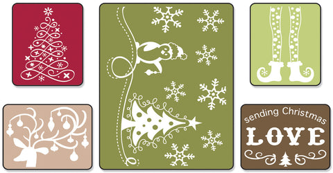 Sizzix Textured Impressions Embossing Folders Sending Christmas Love