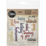 Sizzix Thinlits Dies By Tim Holtz Celebration Script Words