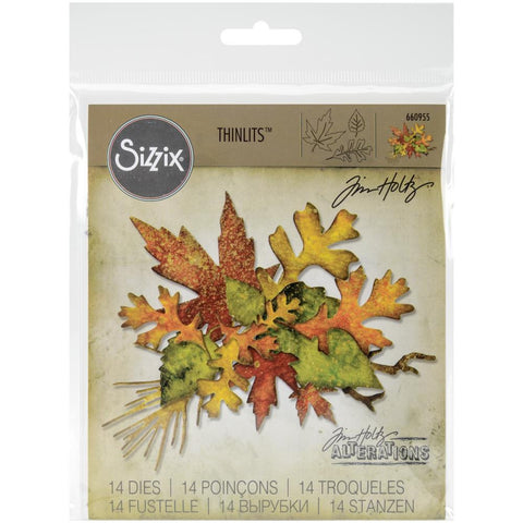 Sizzix Thinlits Dies By Tim Holtz Fall Foliage