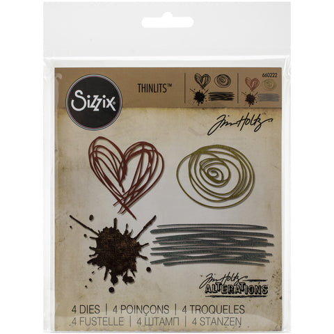 Sizzix Thinlits Dies By Tim Holtz Scribbles and Splat