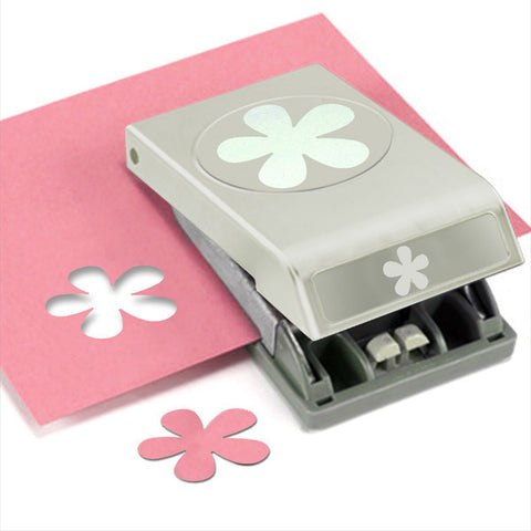 Large Paper Punch Retro Flower