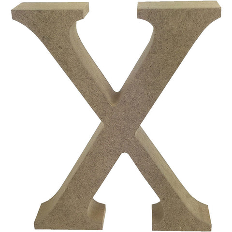 Smooth MDF Blank Shape Serif Letter X