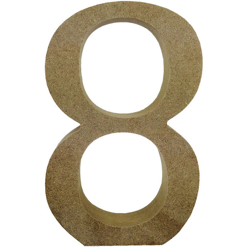 Smooth MDF Blank Shape Serif Number 8